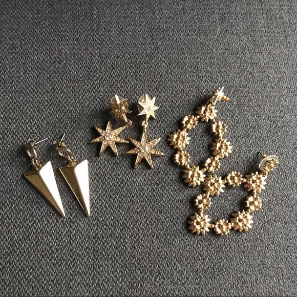 BAUBLEBAR Gold Earrings (Set of 3)